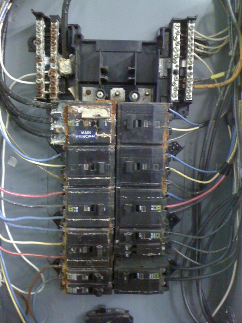 Old Wiring Box Diagrams Option Diagram For Outside Phone Dulcey Electric Damaged Electrical Boxes Circuit